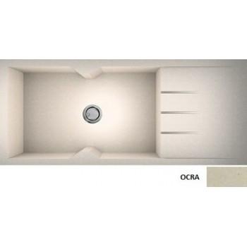 Sanitec Granite 817 Ocra Γρανιτένιος Νεροχύτης 116 1B 1D 80cm