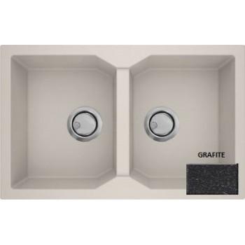 Sanitec Granite 818 Grafite Γρανιτένιος Νεροχύτης 86 2B 90cm