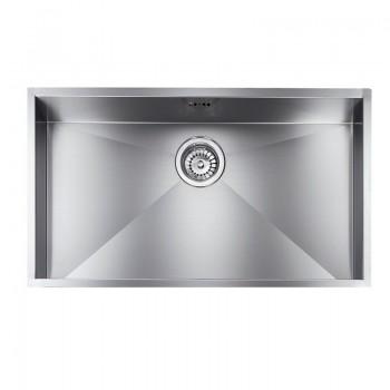 Sanitec Stainless Steel Sinks 11906 Επικαθήμενος Ανοξείδωτος Νεροχύτης 80cm
