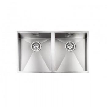 Sanitec Stainless Steel Sinks 11909 Επικαθήμενος Ανοξείδωτος Νεροχύτης 80cm