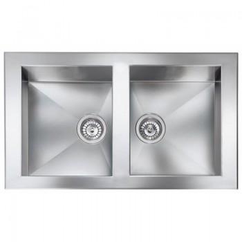 Sanitec Stainless Steel Sinks 10904 Ανοξείδωτος Νεροχύτης 90cm