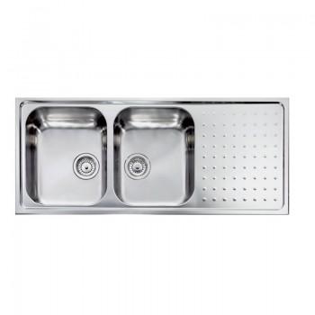 Sanitec Stainless Steel Sinks 11107 Ανοξείδωτος Νεροχύτης 80cm