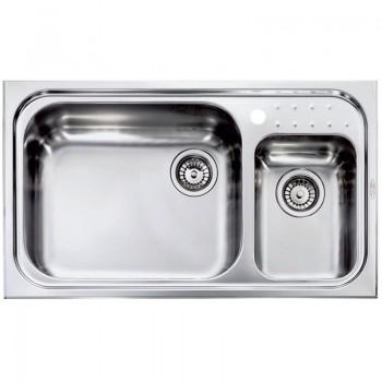 Sanitec Stainless Steel Sinks 11114 Ανοξείδωτος Νεροχύτης 90cm