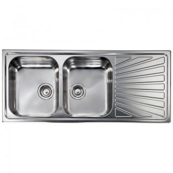 Sanitec Stainless Steel Sinks 11457 Ανοξείδωτος Νεροχύτης 80cm