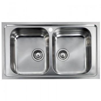 Sanitec Stainless Steel Sinks 11424 Ανοξείδωτος Νεροχύτης 80cm