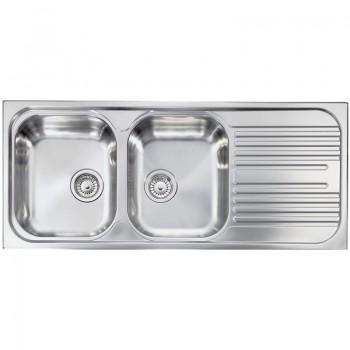 Sanitec Stainless Steel Sinks 10697 Ανοξείδωτος Νεροχύτης 80cm