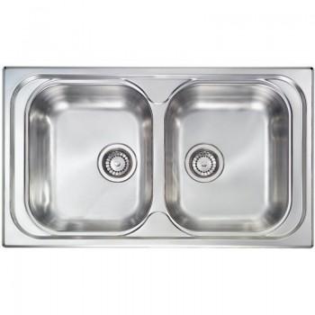 Sanitec Stainless Steel Sinks 10544 Ανοξείδωτος Νεροχύτης 80cm