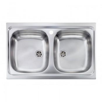 Sanitec Stainless Steel Sinks 11502 Ανοξείδωτος Νεροχύτης 80cm