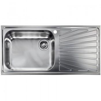 Sanitec Stainless Steel Sinks 11446 Ανοξείδωτος Νεροχύτης 60cm με ποδιά αριστερά