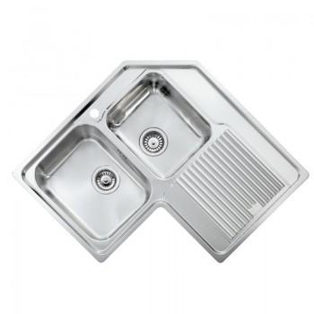 Sanitec Stainless Steel Sinks 11298 Ανοξείδωτος Νεροχύτης 90cm με ποδιά αριστερά