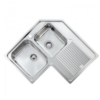 Sanitec Stainless Steel Sinks 11248 Ανοξείδωτος Νεροχύτης 90cm με ποδιά αριστερά