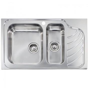 Sanitec Stainless Steel Sinks 11754 Ανοξείδωτος Νεροχύτης 80cm με ποδιά αριστερά