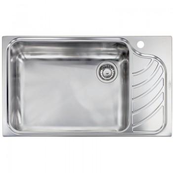 Sanitec Stainless Steel Sinks 11753 Ανοξείδωτος Νεροχύτης 80cm με ποδιά αριστερά
