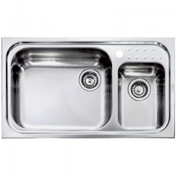 Sanitec Stainless Steel Sinks 11114 Ανοξείδωτος Νεροχύτης 90cm με ποδιά αριστερά