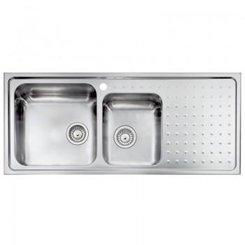 Sanitec Stainless Steel Sinks 11117 Ανοξείδωτος Νεροχύτης 80cm με ποδιά αριστερά
