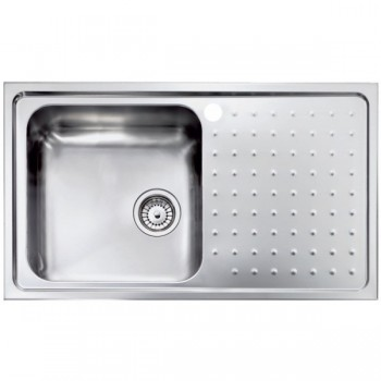 Sanitec Stainless Steel Sinks 11113 Ανοξείδωτος Νεροχύτης 45cm με ποδιά αριστερά