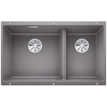 Blanco Subline 430/270-U Alu Metallic  SILGRANIT® PuraDur® Γρανιτένιος Νεροχύτης 80cm