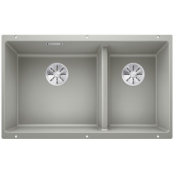 Blanco Subline 430/270-U Pearl Grey  SILGRANIT® PuraDur®  Γρανιτένιος Νεροχύτης 80cm
