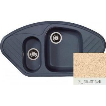 Sanitec Classic 302 Granite Sand Νεροχύτης