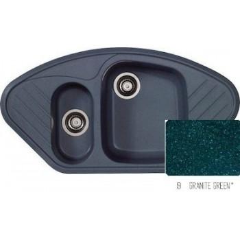 Sanitec Classic 302 Granite Green Νεροχύτης