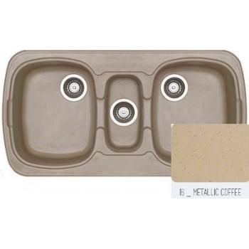 Sanitec Classic 303 Metallic Coffee Νεροχύτης