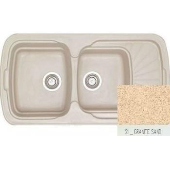 Sanitec Classic 304 Granite Sand Νεροχύτης