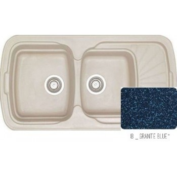 Sanitec Classic 304 Granite Blue Νεροχύτης