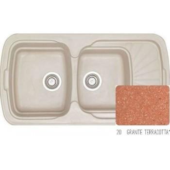 Sanitec Classic 304 Granite Terracotta Νεροχύτης