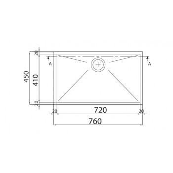 Franke Planar PPX 110-72 Υποκαθήμενος Inox
