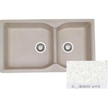 Sanitec Classic 307 Granite White Νεροχύτης