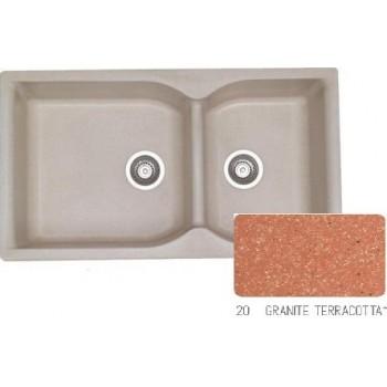 Sanitec Classic 307 Granite Terracotta Νεροχύτης