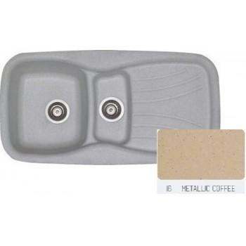 Sanitec Classic 309 Metallic Coffee Νεροχύτης