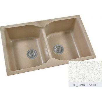 Sanitec Classic 336 Granite White Ένθετος Νεροχύτης 90cm