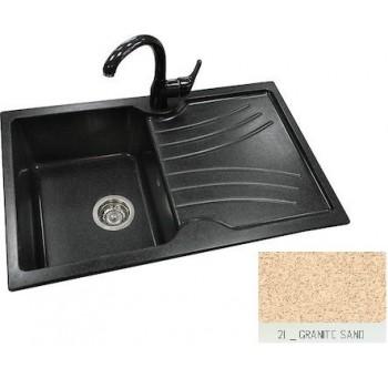 Sanitec Classic 337 Granite Sand Ένθετος Νεροχύτης 45cm
