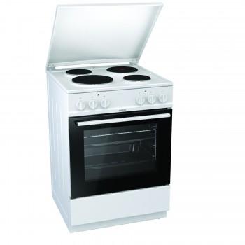 Gorenje E6141WB-594003 Λευκή Κουζίνα Ηλεκτρική Εμαγιέ 71Lt 85x60x60cm με 9 προγράμματα λειτουργίας