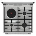 Gorenje K6241XD-728124 Inox Κουζίνα Γκαζιού Μεικτή (3 Εστίες Γκαζιού+1 Εστία Ηλεκτρική) ,71Lt ,85x60x60 cm