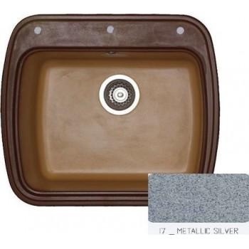 Sanitec Classic 313 Metallic Silver Νεροχύτης