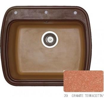 Sanitec Classic 313 Granite Terracotta Νεροχύτης