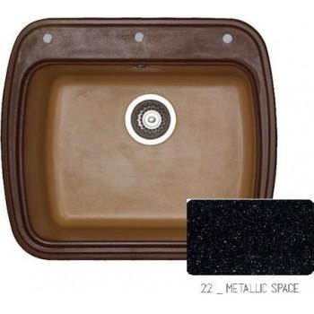 Sanitec Classic 313 Metallic Space Νεροχύτης