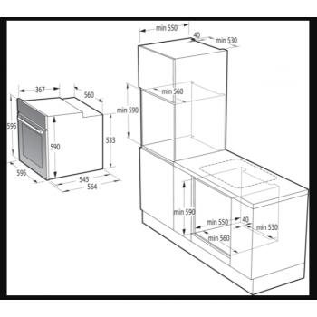 Gorenje BOS6737E13X-738004 Φούρνος Eντοιχιζόμενος Ηλεκτρικός Με Λειτουργία Ατμού Ιnox 77Lt ,60 cm