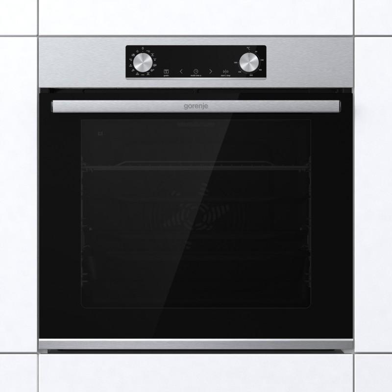 Gorenje BPS6737E14X-738005 Φούρνος Eντοιχιζόμενος Πυρολυτικός Ηλεκτρικός Με Λειτουργία Ατμού Inox 77Lt ,60 cm
