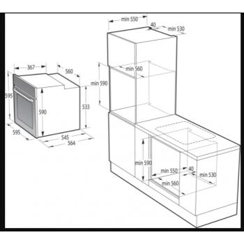 Gorenje BOS6747A01X-738007 Φούρνος Eντοιχιζόμενος Ηλεκτρονικός Με Λειτουργία Ατμού Inox 77Lt ,60 cm