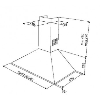 Teka DBP PRO 90 Inox Απορροφητήρας Τοίχου 90cm