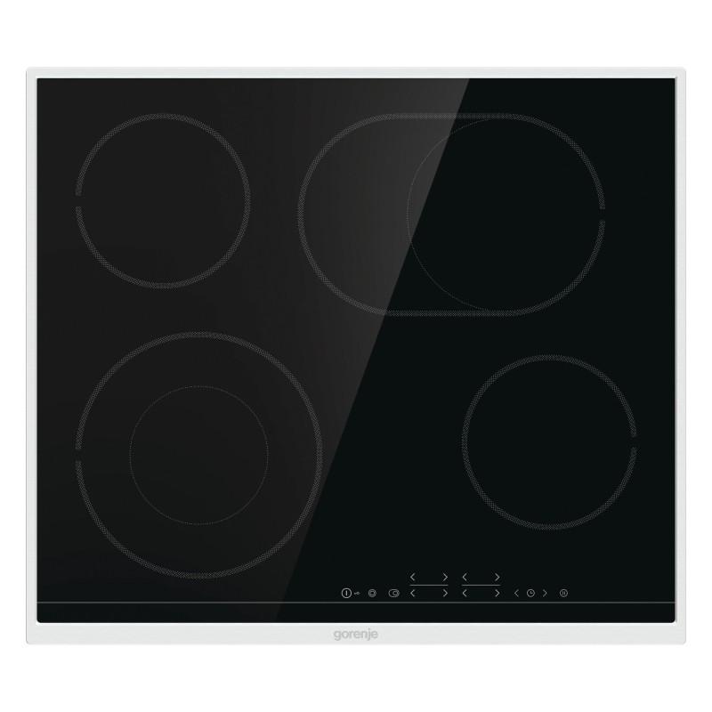Gorenje ECT643BX-730355 Εστία Κεραμική Με Ανοξείδωτο Πλαίσιο Μαύρη Με 6 Εστίες 60,0 cm