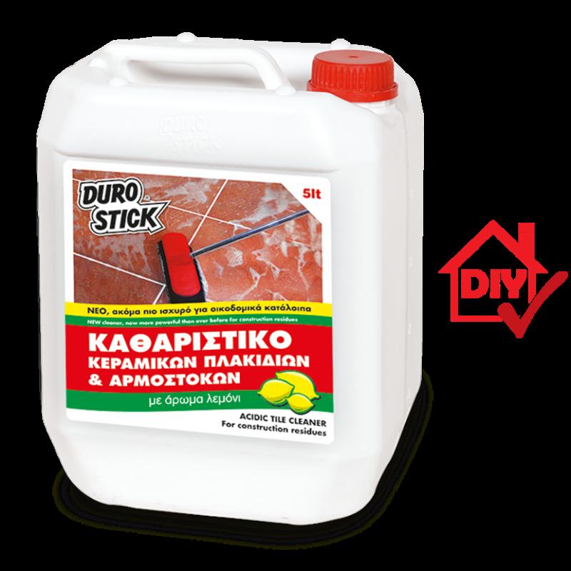 Durostick Όξινο Καθαριστικό Πλακιδίων Για Οικοδομικά Κατάλοιπα 1lt