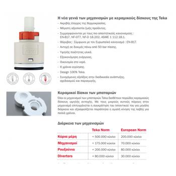 Teka INX 939 Επαγγελματικού Τύπου Inox Ψηλή Μπαταρία Κουζίνας