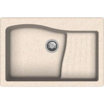 Macart Multispace Ένθετος η Υποένθετος Γρανιτένιος Νεροχύτης Alphina (Λευκό) 86x50cm