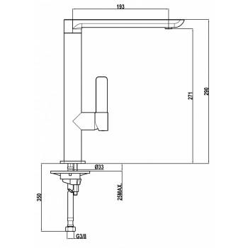 Teka FO 915 Λευκό / Χρώμιο Ψηλή Μπαταρία Κουζίνας