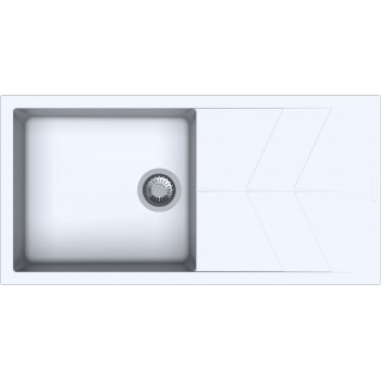 Macart Status D-100 L Ένθετος η Υποένθετος Γρανιτένιος Νεροχύτης Sabbia (Μπεζ)