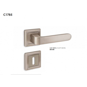 Conset C1785 Ανοξείδωτο Πόμολο Μεσόπορτας-Ροζέτα (Ζεύγος)
